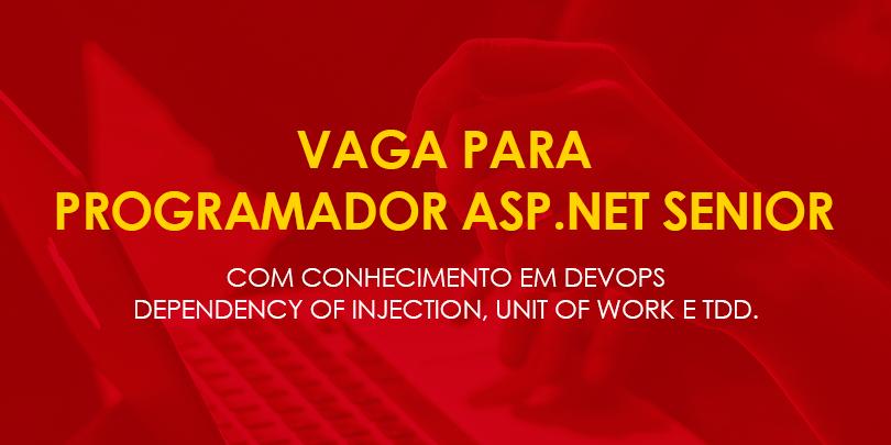 Vaga para Programador Asp Net Senior